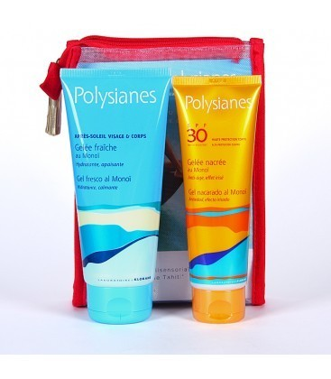 Polysianes neceser gel nacarado SPF 30+ gel post solar